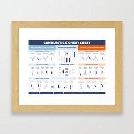 Japanese Candlesticks Cheat Sheet Framed Art Print