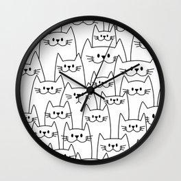 Find the sad cat Wall Clock