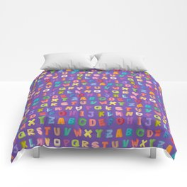 Alphabet pattern Comforters