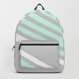 Mint & White Arrows Over Grey Backpack