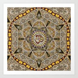 Bohemian Yoga Om Geometry Art Print