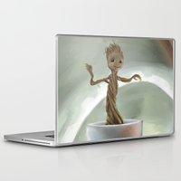 groot Laptop & iPad Skins featuring Baby Groot by Cassandra Moonen