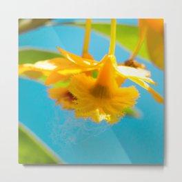 Retro Orchid Metal Print