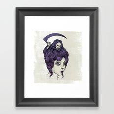 Tänk på döden Framed Art Print