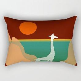 Giraffe Aquatic Scene Rectangular Pillow