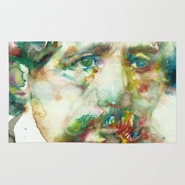 CHARLES DICKENS - watercolor portrait Rug