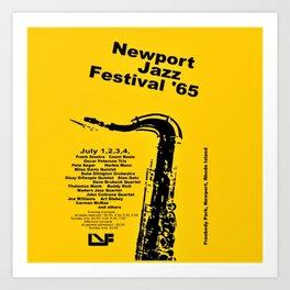 Vintage 1965 Newport, R.I Jazz Festival Advertisement Poster Art Print