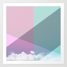 Colorful sky Art Print