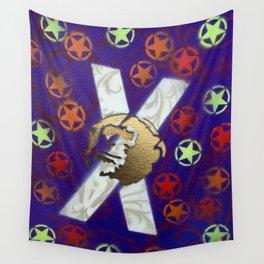 Monky Cross Bones Wall Tapestry