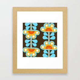 swedish flowers Framed Art Print