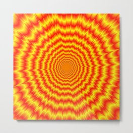 Big Bang in Red and Yellow Metal Print