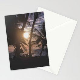 Sunset beach. San Blas, Panama Stationery Cards