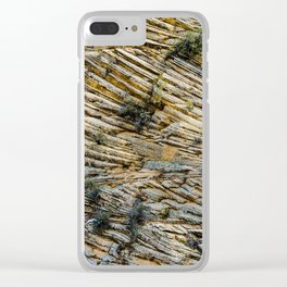 LAYERS OF TIME IN ANCIENT SANDSTONE Clear iPhone Case