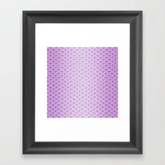 Purple Magic Mermaid Scales Framed Art Print
