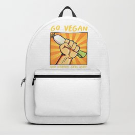 Plant Based Weightlifter Vegetarian Bodybuilder Go Vegan And Nobody Get Hurt Backpack