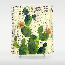 weird cactus Shower Curtain