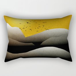 Sunrise Mountain Landscape Rectangular Pillow