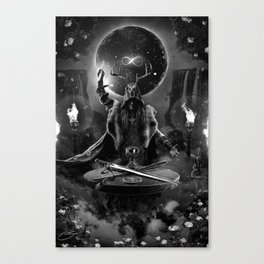 I. The Magician Tarot Card Illustration Canvas Print