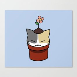 Potted Cat Canvas Print