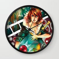 transistor Wall Clocks featuring Hey, Red. by kittyalyst