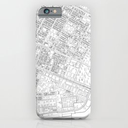 Abstract Map of New York City Manhattan Lower East Side iPhone Case