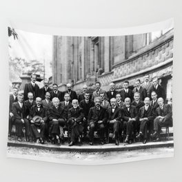 World-Renowned Physicists of 1927 at Solvay Conference Wall Tapestry