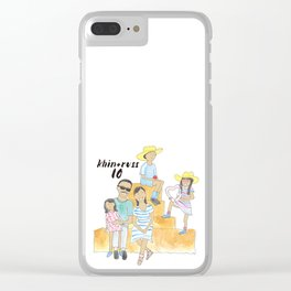 K + R Fam Clear iPhone Case