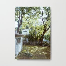 Backyard Light Metal Print