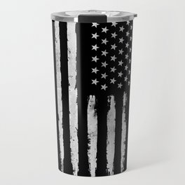 White grunge American flag Travel Mug