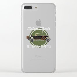 Vintage Wheels: 1927 Lincoln Roadster Clear iPhone Case