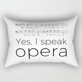 I speak opera (bass) Rectangular Pillow