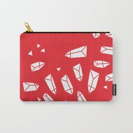 White Crystals on Red Carry-All Pouch