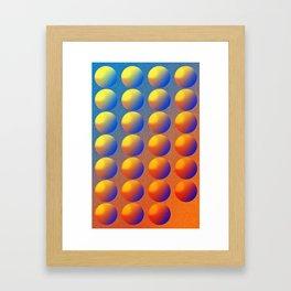 Gradience Framed Art Print