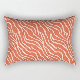 Orange Zebra Rectangular Pillow