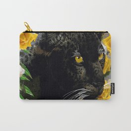 BLACK PANTHER AND YELLOW ROSES Carry-All Pouch