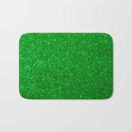 Emerald Green Shiny Metallic Glitter Bath Mat