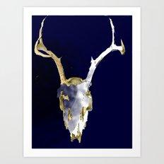 Skull Dye Art Print