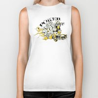 poker Biker Tanks featuring Poker face by Tshirt-Factory