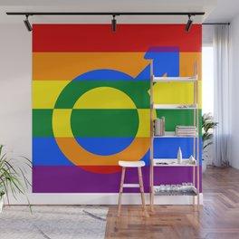 Gay Pride Rainbow Flag Boy Man Gender Male Wall Mural