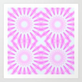 Pink Pinwheel Flowers Art Print