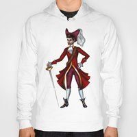 captain hook Hoodies featuring Captain Hook by Callie Clara