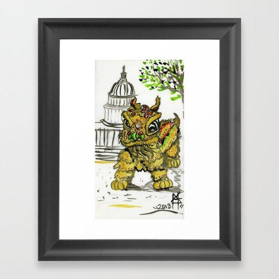 Lion Dance  Framed Art Print