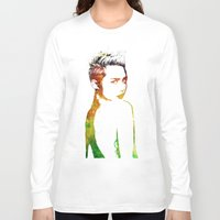 miley Long Sleeve T-shirts featuring Miley Cyrus by Greg21