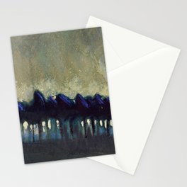 'The Blue Forest' alpine landscape painting by Mikalojus Konstantinas Ciurlionis Stationery Cards