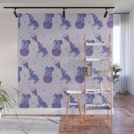 Playful Petits Pachyderms Wall Mural
