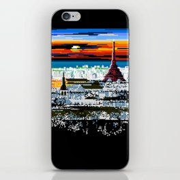 Invading Paris Space iPhone Skin