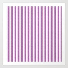 Light Purple and White Retro Vintage Grunge style pattern Art Print