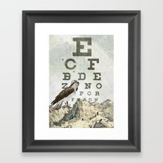 eye chart II Framed Art Print