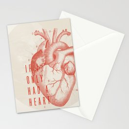 If I Only Had A Heart Stationery Cards