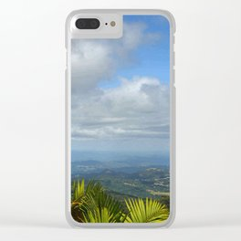 View at 3,000 feet alt. from El Yunque peak -  El Yunque rainforest PR Clear iPhone Case